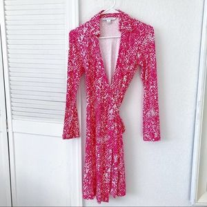 Diane Von Furstenburg Jeanne Two Silk Wrap Dress 2